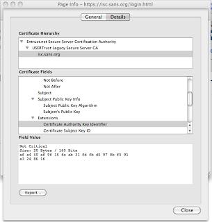 InfoSec Handlers Diary Blog - Manual Verification of SSL ...